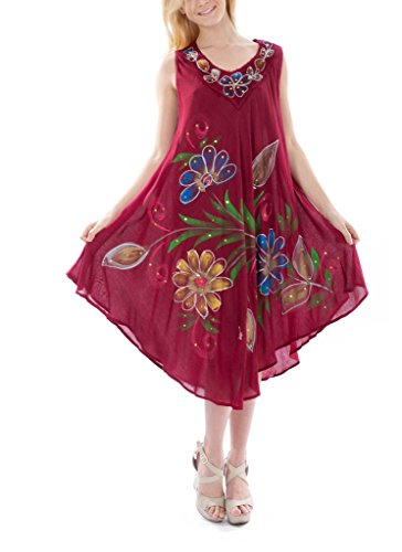 Women's Floral Embroidered Shift Dress, 120