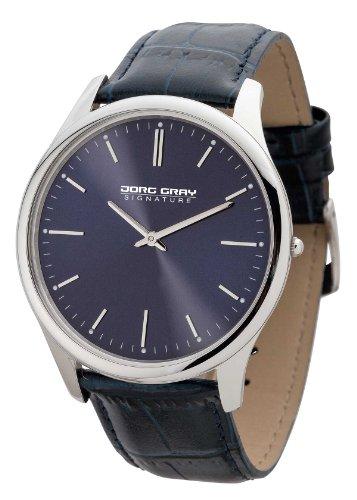Jorg Gray-Orologio da uomo al quarzo con Display analogico e cinturino in pelle, colore: blu JS1100