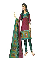 Traditional 2 Trendy Women's Floral Unstitched Dress Material