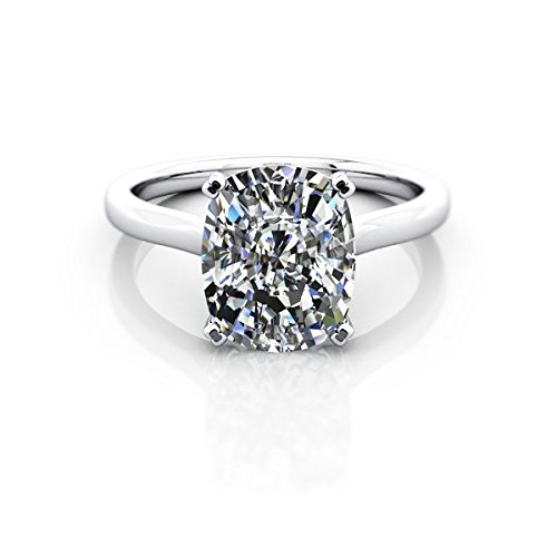 A Rare Diamond 2.05 Ct E Color Si2 Clarity Gia Certified Cushion Brilliant Solitaire Engagement Ring