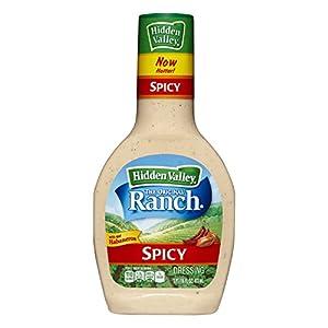 Hidden Valley Original Ranch Dressing, Spicy, 16 Fluid Ounce Bottle (Pack of 6)