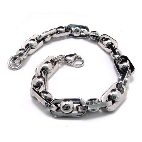 CET Domain SZ11-1109 Steel Ball Bracelet Titanium Silver Atomic Volume for Men