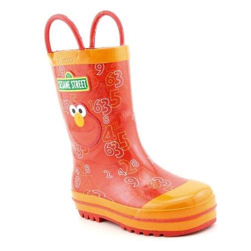 Sesame Street Elmo Sef500 Rain Boot (Toddler/Little Kid),Red,10 M Us Toddler front-1011094