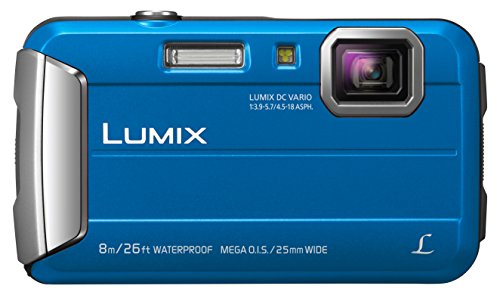 Panasonic LUMIX DMC-FT30EG-A Outdoor Kamera (16,1 Megapixel, 4x opt. Zoom, 2,6 Zoll LCD-Display, 220 MB interne Speicher, wasserdicht bis 8 m, USB) blau