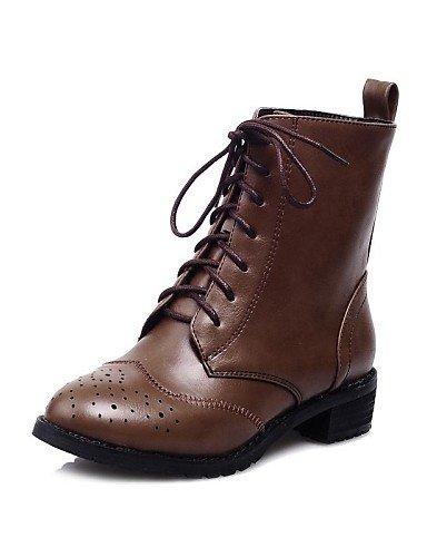 PurF&Tree scarpe da donna punta rotonda stivali tacco basso alla caviglia con lacci più colori disponibili , brown-us6.5-7 / eu37 / uk4.5-5 / cn37 , brown-us6.5-7 / eu37 / uk4.5-5 / cn37