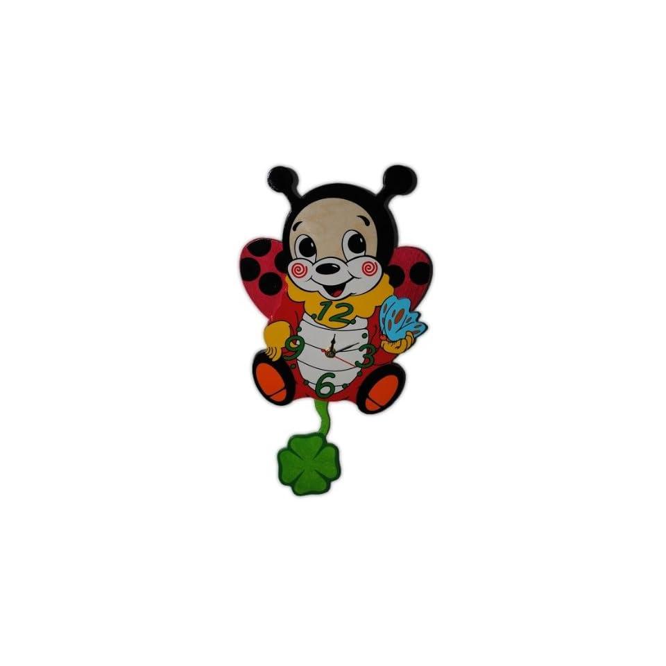 Wanduhr Uhr Holz Kinder Kinderzimmer Kinderuhr ~ Wanduhr Uhr Holz Kinder Kinderzimmer Kinderuhr mit Pendel Katze Hund