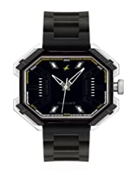 Fastrack Analogue Black Dial Men Watch - (3100SP02)