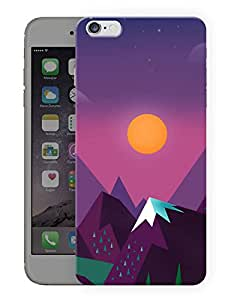 """Humor Gang Hills And Sun Printed Designer Mobile Back Cover For """"Apple Iphone 6 - 6s"""" (3D, Matte, Premium Quality Snap On Case)"""
