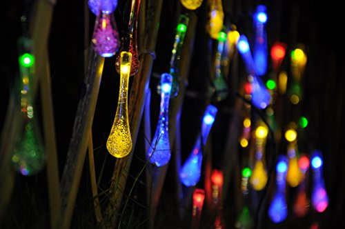 20 Led Solar Garden String Lights Outdoor Fairy Multi