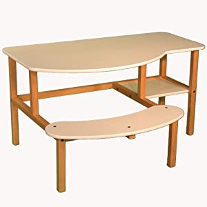 Wild Zoo Furniture Childs Wooden Computer Desk For 1 To 2 Kids Ages 5 To 10 White from Wild Zoo Furniture, Inc
