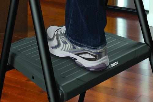3 Step Ladder Compact Sturdy Fold Flat Easy Storage Safety