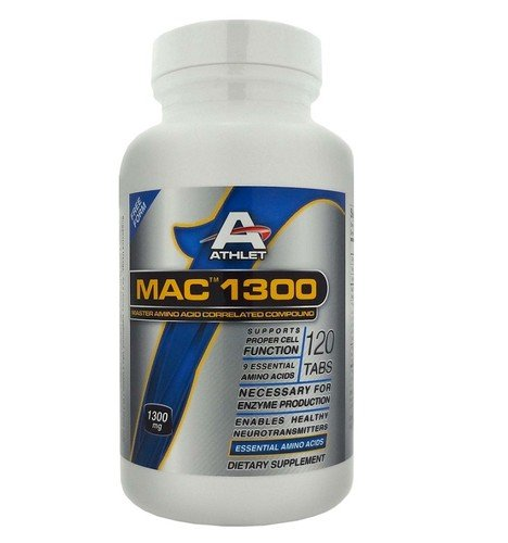 Athlet MAC 1300 Master Amino Acid Correlated Compound 120 Tabs - Muscle Builder
