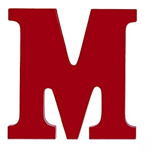 Amazon Com 8 Inch Wall Hanging Wood Letter M Red
