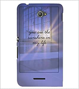 PrintDhaba Quote D-4896 Back Case Cover for SONY XPERIA E4 (Multi-Coloured)