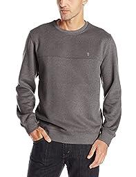 IZOD Men\'s Long Sleeve Solid Sueded Fleece Sweatshirt, Carbon Heather, Small