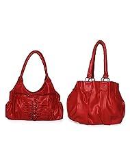 Arc HnH Women Combo Handbag Pretty + Magnificent - Red