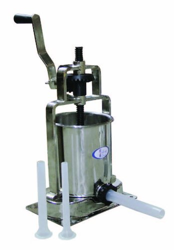 Omcan FMA (7KVSSL) 15lb Manual Vertical Sausage Stuffer 7kg Stainless