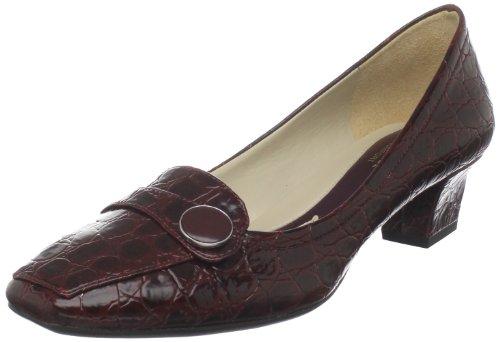 Naturalizer Women's Fulton Slip-On Loafer,Wine Shiny Croco,9 W US