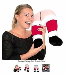 Santa's Farting Butt-Travel and Neck Pillow-SUPER SOFT PLUSH!!!