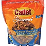Cadet 2-Pound Sweet Potato Chicken Wraps Dog Chew