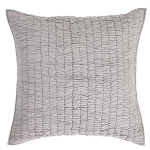 Best Deals! Rochelle Grey Quilted Euro Sham 26x26