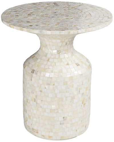 Zahora Cream Mother of Pearl Accent Table