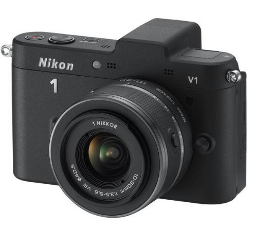 Nikon 1 V1 Compact System Camera with 10-30mm Lens Kit - Black (10.1MP) 3 inch LCD