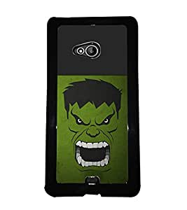 PRINTVISA Hulk Premium Metallic Insert Back Case Cover for Nokia XL - D5883