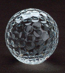 GOLF BALL PAPERWEIGHT CRYSTAL GOLF BALL PAPERWEIGHT