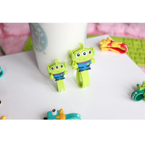 Jk New Cute Disney Cartoon Style Cable Tie Cord Organizer Earphone Wrap Winder/ Fixer Holder/Cord Manager/Cable Winder (Alien)