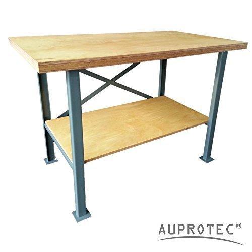 Auprotec-Profi-Werkbank-1250-x-600-mm-Multiplex-Arbeitsplatte-40mm-Massiv-Arbeitstisch-Packtisch