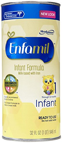 Enfamil Premium Ready To Use Infant Formula, 1 Quart Cans (Case Of 6) (Packaging May Vary)