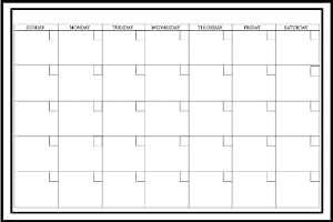 Wall Pops WPE0447 24-Inch by 36-Inch Peel and Stick Dry Erase Monthly Calendar Decal