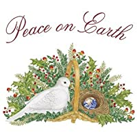 Dove & Peace on Earth Flour Sack Towel (1) Alice's Cottage