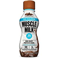 12-Pack Muscle Milk 100 Calorie Protein Shake Chocolate 20g Protein 12 oz