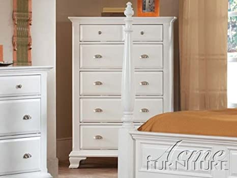 Queen Bedroom Chest in White Finish by Acme