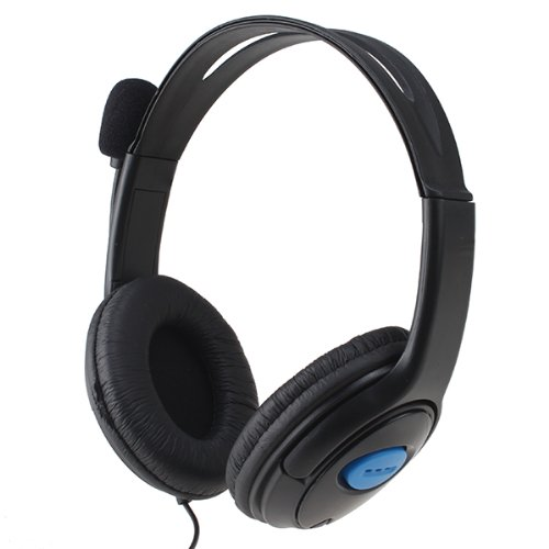 Image® Wired Gaming Chat Stereo Bass Dual Ear Cup Headset Headphone With Mic For Ps4 Playstation 4 And Iphone Android Phone Laptop Pc