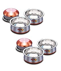 Pigeon-3pcs Stainless Steel Baby Handi Set Copper Bottom (Set of 2)