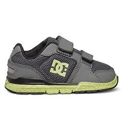 DC Forter V Youth Shoes Skate Shoe (Toddler), Dark Shadow/Black/Lime, 9 M US Toddler