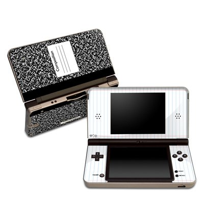 Composition Notebook Design Protective Decal Skin Sticker (High Gloss Coating) for Nintendo DSi XL Game Device (Advance Composition compare prices)