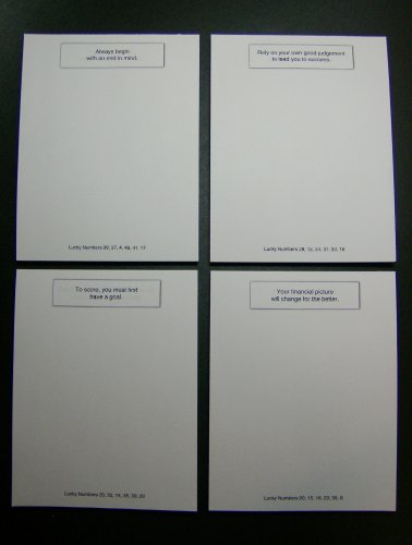 Fortune Cookie Notepads 4-Pack, Business Executive