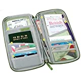"Cosmos ® 9.5"" Blue Multi-Purpose/passport Case/Bag/Holder/Organizer for Card Money Ticket and more With Cosmos Cable Tie"