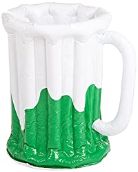 c2e1ebad9d5 Inflatable Beer Mug Cooler (holds apprx 48 12-Oz cans) Party Accessory (