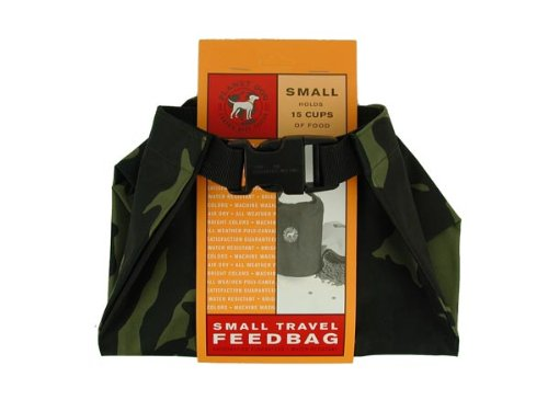Dog Weekender Travel Feedbag Camoflauge