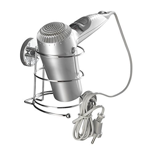 WENKO Vacuum-Loc Haartrocknerhalter, Stahl, Chrom