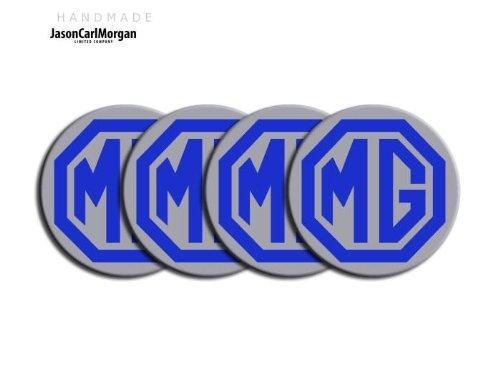 MG TF le500style noir et argent en alliage Roue de Centre PAC Badges (clr55mm)
