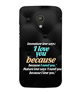 EPICCASE mature love quotes Mobile Back Case Cover For Moto G 2nd Gen (Designer Case)