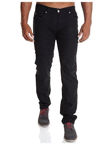 Justboy Herren Jeans Hose Jeanshose H2081, Hosengröße:W36;Farbe:Schwarz