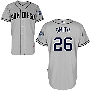 Burch Smith San Diego Padres Road Authentic Cool Base Jersey by Majestic by Majestic