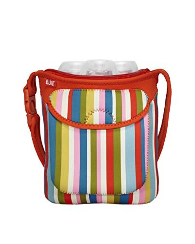 Built NY Set Botella Buddy y 3 Botellas Pink Stripe Rayas Naranja